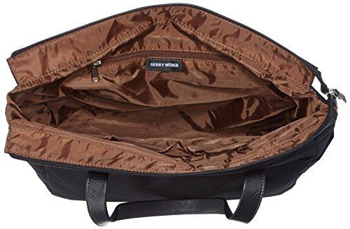 GERRY WEBERLemon Mix II Handbag M - Borsa con Maniglia Donna Nero (Nero (Black 900))