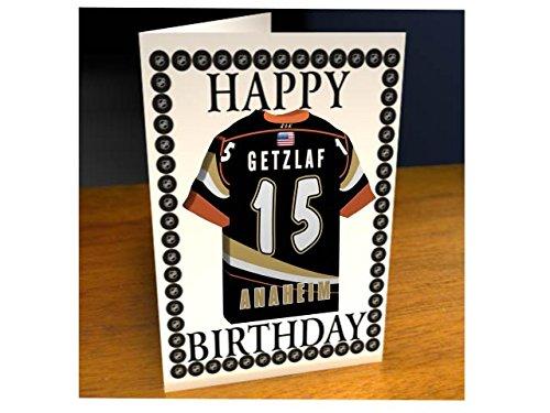 MyShirt123 Geburtstagskarte, Anaheim Ducks Ice Hockey Team, Stück: 1 (Jersey Schwarz Blackhawks)