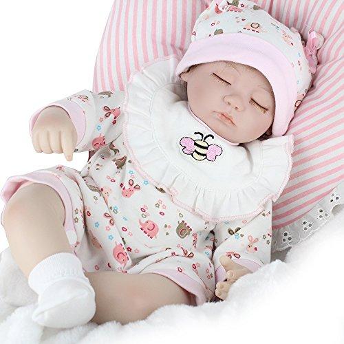 77d564f29426 Denshine Muñecos Bebé de Silicona Suave Vinilo de Silicona 45CM Muñeca  Realistas Reborn Doll Regalo Juguete