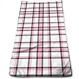 WBinHua Biancheria da Bagno, Beach Towel, Sports Towel, Hand Towels, Pink Black Plaid Bath Towels for Bathroom-Hotel-Spa-Kitchen-Set - Circlet Egyptian Cotton - Highly Absorbent Hotel Quality Towels