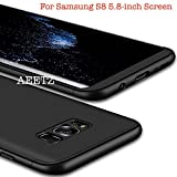 AEETZ® S8 Case, Samsung S8 Back Case [Full Body 3 in 1] [Slim & Thin Fit Tightly] 360 Degree Protection Premium Hybrid Bumper 3 in 1 Hard Back Case For Samsung S8 / Galaxy S8 (5.8 inch) - Full Black