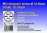 deaL-Toys® 10 Münzkapseln 32,5mm, randlos, geeignet für 10 Euro / 20 Euro Deutschland PP