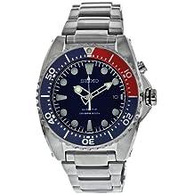 Seiko SKA369P1 - Reloj analógico de caballero de cuarzo con correa de acero inoxidable plateada - sumergible a 200 metros