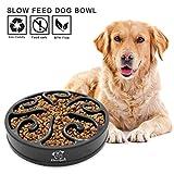 Decyam - Comedero para mascotas con forma de cuenco para perro, alimentador lento, plato para detener la comida de perro, bozal interactivo para gatos, cuenco antideslizante