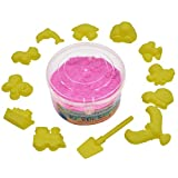 #6: AsianHobbyCrafts Kinetic Sand with 12 Shaping Tools: Color - Hot Pink : Wt - 300gm : for Sand Modeling, Kids' Activities, DIY Crafts