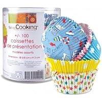 Papier geeignet f/ür den Kontakt mit Lebensmitteln 25/St/ück Unbekannt Scrapcooking 5093 Muffinf/örmchen Design Sterne Mehrfarbig 18/x 6,2/x 6,2/cm
