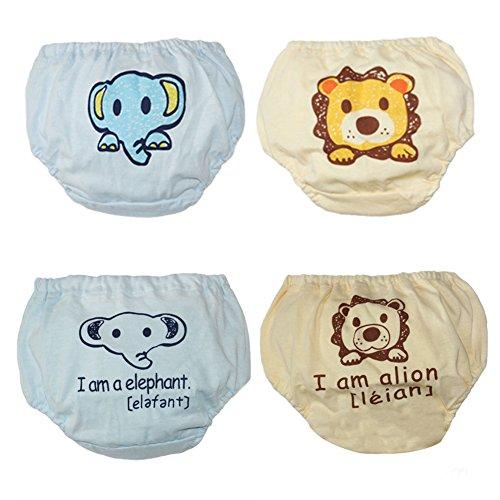 LOSORN ZPY Baby Unterwäsche Unterhosen Training Pants Trainerhosen Töpfchentraining 4 Stücken (110, Junge)