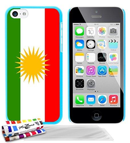 Ultraflache weiche Schutzhülle APPLE IPHONE 5C [Flagge Kurdistan] [Gelb] von MUZZANO + STIFT und MICROFASERTUCH MUZZANO® GRATIS - Das ULTIMATIVE, ELEGANTE UND LANGLEBIGE Schutz-Case für Ihr APPLE IPHO Lagunenblau + 3 Displayschutzfolien