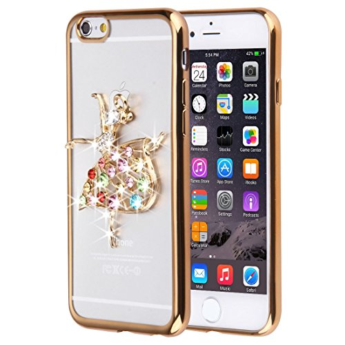 Für iPhone 6 Plus / 6s Plus, Diamond verkrustete Schmetterling Muster Soft TPU Fall DEXING ( SKU : IP6P0087B ) IP6P0087F
