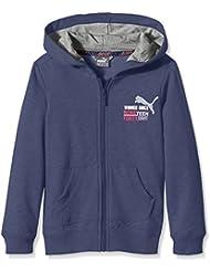 Puma Niños chaqueta Style Athl Hooded Sweat Jacket B, infantil, color Blue Wing Teal, tamaño 104