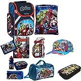 Avengers XL 14 Teile Schulranzen RANZEN FEDERMAPPE Rucksack mit Sticker von Kids4shop Tasche Set Captain America Thor Hulk Iron Man