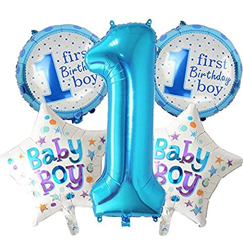 5pcs/set Happy Birthday Dekoration Aufblasbar Helium Folie Ballons, Baby Mädchen