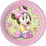 23cm Baby Minnie Maus Party Teller, 8Stück