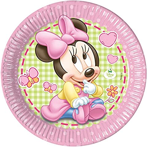 23cm Baby Minnie Mouse Party Plates, Pack of 8