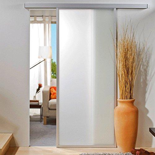Schiebetür Glasschiebetür 740x2035mm mit umlaufendem 33mm Alu-Profil Zimmertür Glastür
