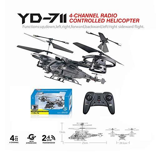 RC Hubschrauber Fernbedienung Flugzeug Ultraleichte Drohne mit Gyro Mini Bewaffnete Serie 2.4G Bilaterales Blatt Fighter Prototyp für Kinder & Erwachsene Indoor Outdoor Micro RC Quadcopter Spielzeug