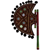 Royal Handicrafts Hand Embroidered Beejna - The Handheld Fan