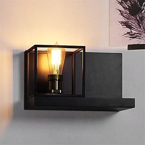 NOHOPE Wandlampen Industrial Retro Eisen Mauern Schrank Hause Regale individuell Lagerung Rack Dual-Use Wand Leuchte,A