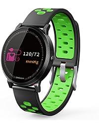 Rastreadores de fitness, TechCode Pulsera Inteligente Impermeable Pulsera Inteligente con Monitor de Frecuencia Cardíaca Reloj