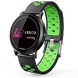 Miya System Ltd Sport Armband,Smart Sport Fitness Armband Schwimmen Uhr Schrittzähler, weibliche physiologische Aktivität Detektor, Schlaf, Kalorien Schlaf und Kalorien Monitor, Wecker, Kamerasteuerung, kompatibel mit Android und iOS(Grün)