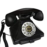 DJL Telefon-Seil örtlich festgelegtes Überland-Antikes Telefon-Retro- europäische Art-Kreatives Innenministerium-Hotel STS (Farbe : Black, größe : L18.5CM*H16CM)