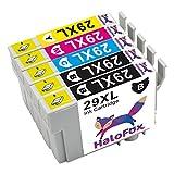 HaloFox 5 Tintenpatronen Combo für Epson 29XL Schwarz / Magenta / Cyan / Gelb Kompatibel für EXPRESSION HOME XP-235 XP-335 XP-442 XP-442 XP-342 XP-332 XP-242 XP- 245 XP-430 XP-330 mit Chips