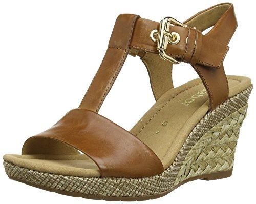Gabor Shoes 22.824.54 Damen Plateau Sandalen, Braun (Peanut (Ba.St)), Gr. 37