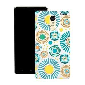 Customizable Hamee Original Designer Cover Thin Fit Crystal Clear Plastic Hard Back Case for Lenovo K5 Note (Floral Bloom / Blue)