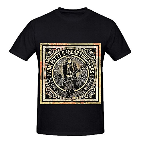 tom-petty-the-heartbreakers-live-anthology-electronica-mens-big-tall-t-camicie-xxxx-l-black-m