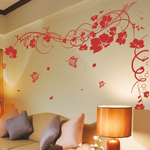 vine-flower-butterfly-tree-wall-art-stickers-wall-decals-wall-art