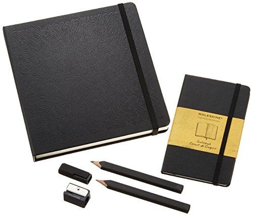 Moleskine GBDRAWING Geschenkboxen Zeichen-Set inkl. Bleistiften, Anspitzer und Skizzenbuch schwarz -