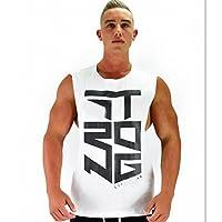 NBX Chaleco Informal de Deportes de Verano al Aire Libre Camiseta de Secado rápido sin Mangas de Entrenamiento Deportivo,Blanco,XXL
