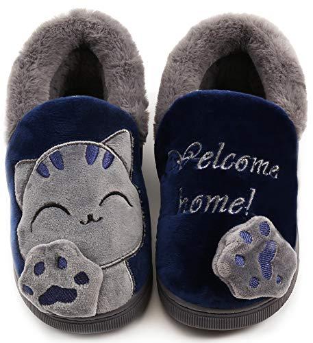 Zapatillas de Estar por Casa Niña Niño Zapatos Pantuflas Invierno Bebé Interior Caliente Peluche...