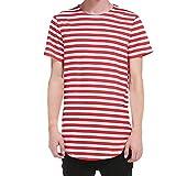 Btruely Herren T-Shirt Groß Größe Oberteile Laufendes Shirt Mode Trainingshemd Streifen Gedruckt T-Shirt Männer Kurzarmshirt