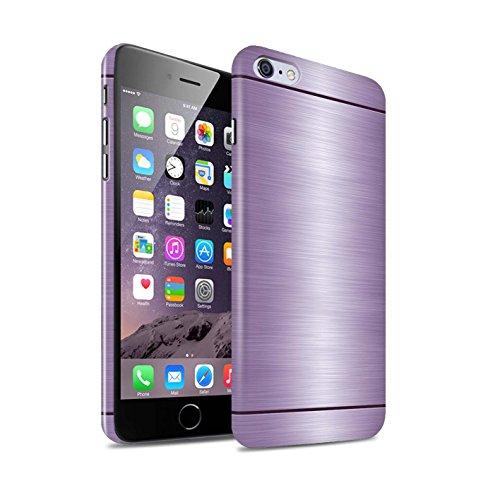 STUFF4 Glanz Snap-On Hülle / Case für Apple iPhone 6S+/Plus / Kupfer Muster / Gebürstetem Metall Mutser Kollektion Lila
