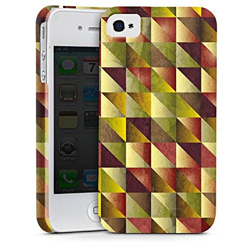Apple iPhone X Silikon Hülle Case Schutzhülle Dreiecke Muster Abstrakt Premium Case glänzend
