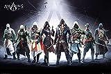 Assassin's Creed Poster Charaktere (91,5cm x 61cm) + 2 St. schwarze Posterleisten mit Aufhängung