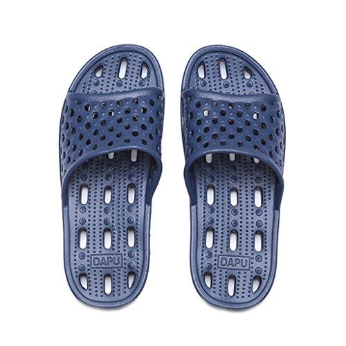 Chaussons DWW Pour Hommes à Séchage Rapide Salle de Bain Anti-Dérapant Épais Creux Chaussures de Massage Bleu