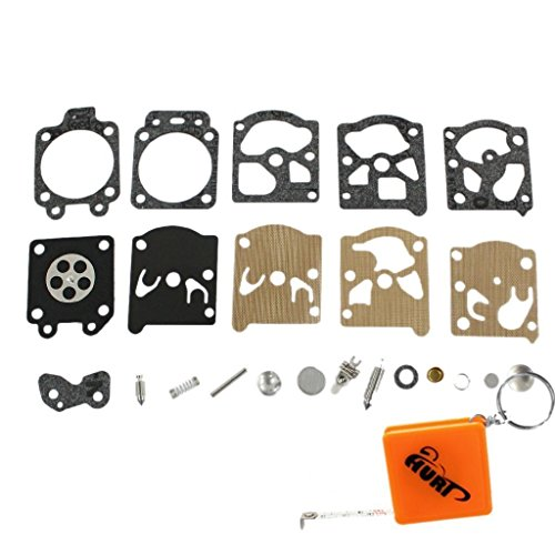 HURI Vergaser Reparatursatz Kit Membrane Dichtung passend für Poulan 4016pro 2055 2115 2150 2175 2250 2275 2375 2550 2555 (Walbro) (Poulan Elektrische)