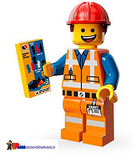 The Lego Movie- 71004 HARD HAT EMMET Minifigure (Lego Movie Emmet)