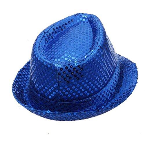LCLrute Mode Frauen Sequined Hat Hat Hat Dance Stage Show Aufführungen (Blau) (Knit Cashmere Beret)