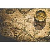 MAIYOUWENG Adulti Puzzle Classici Collection 1000 Pezzi- Mappa Nautica e Modello Bussola -1000 Pezzi di Legno Jigsaw Puzzle