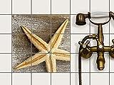 creatisto Fliesen renovieren | Dekorativ-Dekorsticker Küchenfliesen Bad-Folie Badezimmergestaltung | 10x10 cm Design Motiv Starfish - 9 Stück