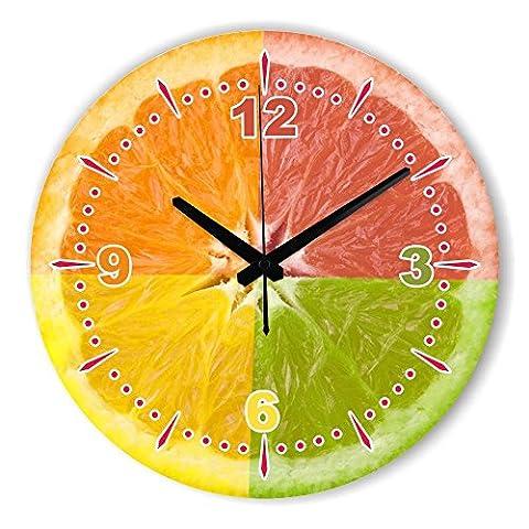Damjic Le Jardin Européen Minimaliste Retro Fashion Chambre Salon Horloge Murale Décorative American Silent Watch 16 Pouces 18