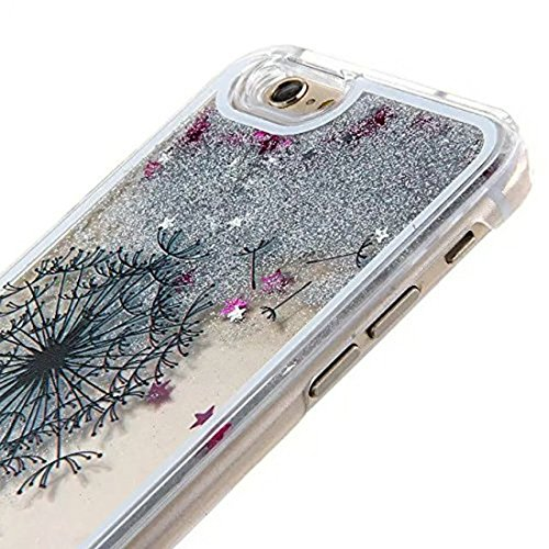 Custodia per iPhone 6s, iPhone 6s diamante TPU custodia, Newstars iPhone 6 iPhone 6s case, Bling glitter silicone, iPhone 6s 11,9 cm Bling morbido TPU ultra sottile per iPhone 6, cute Girl bellissimi  Dandelion Black