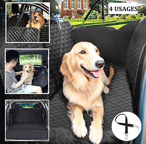 Pecute Waterproof Car Seat Cover for Pets - Blanket style Hammock Anti-slip Protection Device Pet Protection Dogs for Travel (with safety belt)