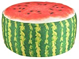 Un pouf de jardin - Gonflable - Imperméable - Pastèque