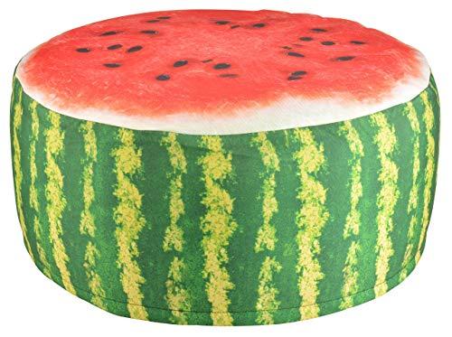 ESSCHERT DESIGN BK011 Pouffe/Ottoman Alrededor Puff y otomano - Puffs y otomanos (Pouffe/Ottoman, Alrededor, Rojo, Poliéster, Cloruro de polivinilo (PVC), Verde, 58 cm)
