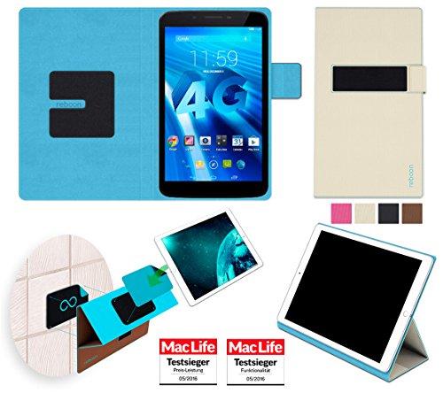 reboon Hülle für Allview Viva H7 LTE Tasche Cover Case Bumper | in Beige | Testsieger