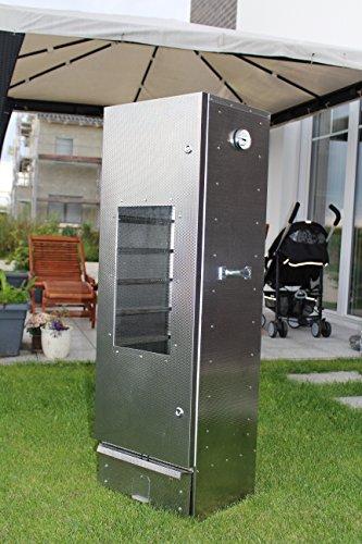 Preisvergleich Produktbild Der neue Maßstab: Original Smoki Räucherofen aus geprägtem Stahl mit Sichtfenster: 120cm hoch.